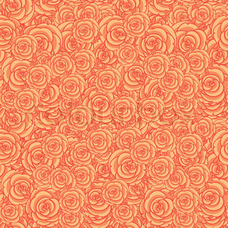 Cute orange floral seamless pattern background