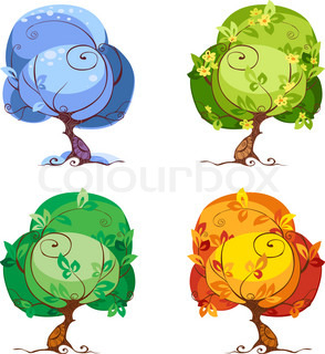 The Four Seasons - Winter, Spring, Summer, Fall.