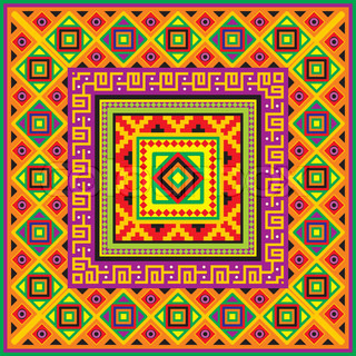mexican square background