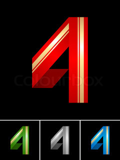 Numeral of paper tape - 4