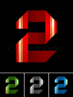 Numeral of paper tape - 2
