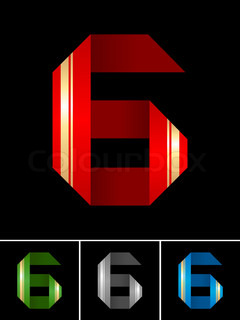 Numeral of paper tape - 6