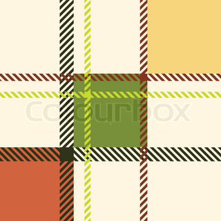 Plaid pattern vector colourbox for Irish mail cart plans
