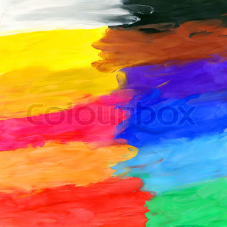 Colored watercolor brush strokes, may be used as background