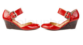 Fashionable women's red shoes