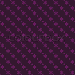 Dark purple seamless floral pattern with dots