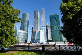 Modern business skyscrapers in Moscow city