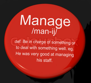 Manage Definition Button Showing Leadership Management And Super