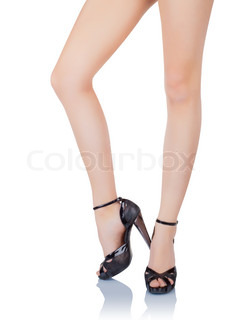 Beautiful female legs in high heels