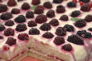 tasty blackberry cake