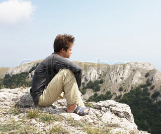 Boy on the cliff