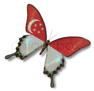 Singapore flag on butterfly
