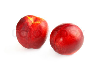 Two fresh nectarines