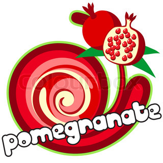 Pomegranate. Background for design of packing.