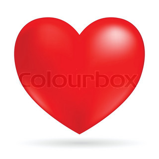 heart isolated on white background vector image
