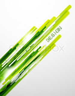 Vector abstract background Green shiny lines
