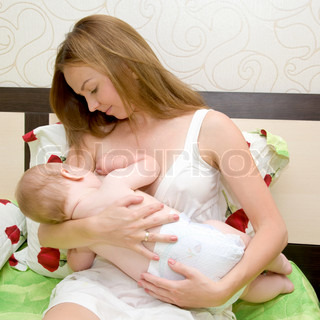 Image of 'baby, mother, breast'