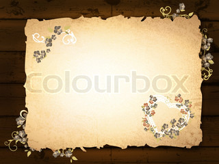 burnt paper at wooden background
