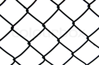 dark chain link fence