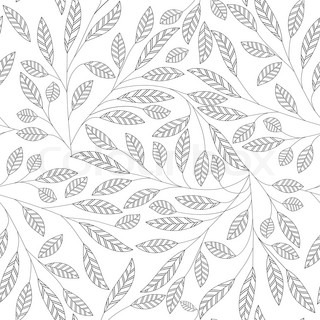 Fabric Texture Design Filigree Tile Leaf Floral Abstract Seamless Vector Background