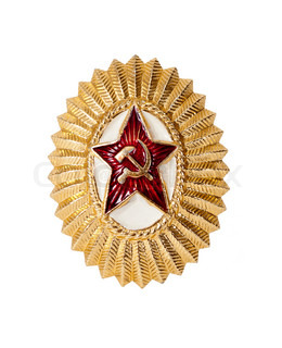 Insignia on soviet officer cap