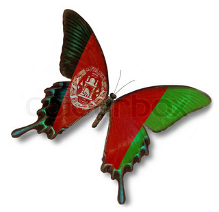 Afghanistan flag on butterfly