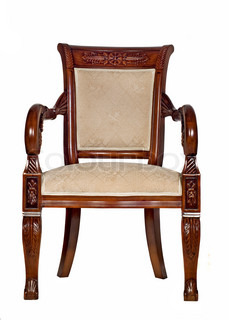 wooden chair front view. antique armchair front view wooden chair