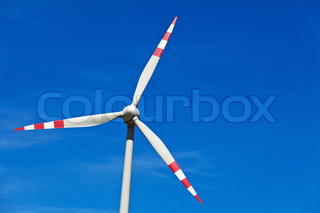 wind turbine of a wind power plant for electricity