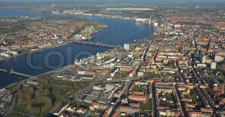 Image of 'in Aalborg, Denmark, Limfjorden and'