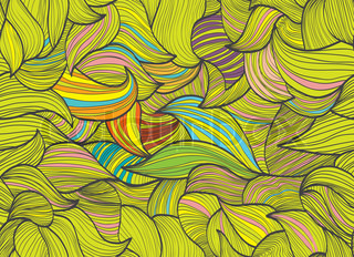Abstract hand-drawn background, Seamless pattern with waves can be used for wallpaper, pattern fills, web page background, surface textures
