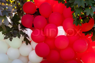 Balloons red and white