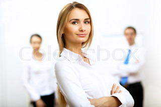 Portrait of a business woman in office