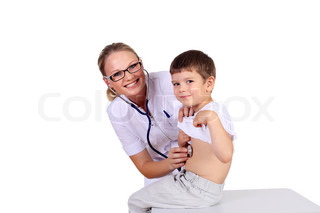 Doctor doing medical examination to a child