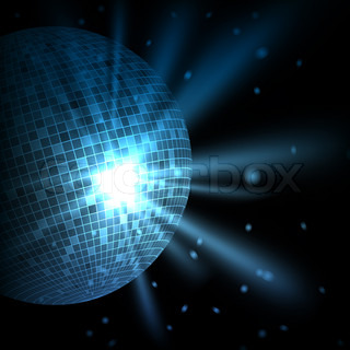 Abstract colorful background with disco ball
