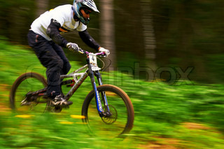 Mountain bike extreme competition