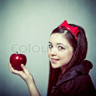Snow White with an apple