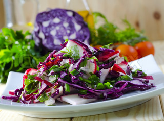 Image of 'cabbage, red, salad'
