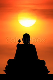 Sunrise and Buddha