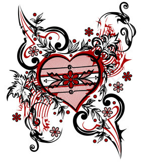 Abstract drawing heart Valentine background The valentine's day T-shirt design