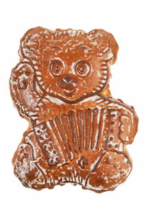 Gingerbread in the shape of a bear