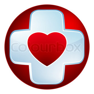 Heart medical cross EPS 8