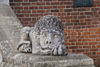 Lion made of stone