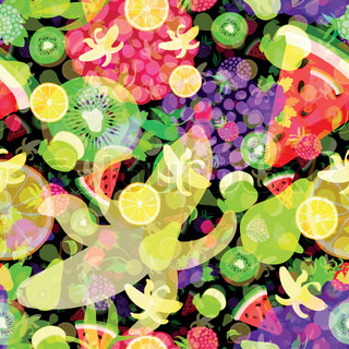 Fruit vector background package design abstract texture bright colorful pattern
