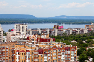 View of the Russian city of Samara in May 2012
