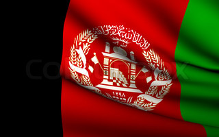 Flying Flag of Afghanistan  All Countries Collection