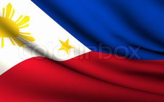 Flying Flag of Philippines  All Countries Collection