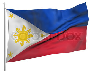 Flying Flag of Philippines - All Countries