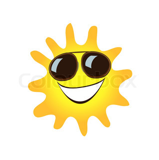 Happy smiling sun cute symbol