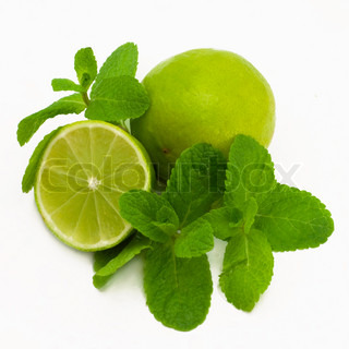 Fresh lime with mint