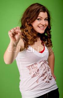 Happy young feminine